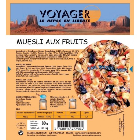 Muesli aux Fruits 80g